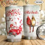Cardinal Red Truck Personalized HTQ1411002 Stainless Steel Tumbler