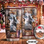Native Wolf Personalized HTQ1411009 Stainless Steel Tumbler