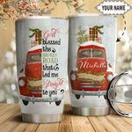 Red Truck Christmas Personalized HTQ1411010 Stainless Steel Tumbler
