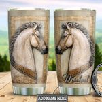 Personalized White Horse Scuplture Style TTZ1411037 Stainless Steel Tumbler