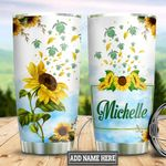 Personalized Sunflower Turtle HHZ1411034 Stainless Steel Tumbler