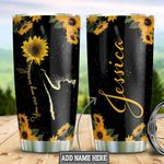 Personalized Sunflower Cat TTZ1411033 Stainless Steel Tumbler