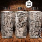 Personalized Elephant Family Sculpture Style HHZ1411018 Stainless Steel Tumbler
