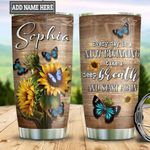 Personalized Sunflower Butterfly Beginning TTZ1411031 Stainless Steel Tumbler