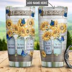 Personalized Butterfly Sunflower Motivation TTZ1411010 Stainless Steel Tumbler