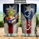Personalized Puerto Rico Frog Break Through TTZ1411030 Stainless Steel Tumbler