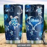 Personalized Blue Ocean Turtle HHZ1411009 Stainless Steel Tumbler