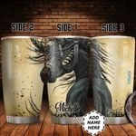 Personalized Black Horse HHZ1411008 Stainless Steel Tumbler