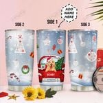 Personalized Christmas Truck Golden HHZ1411015 Stainless Steel Tumbler