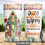 Personalized Christmas Dog HLZ1411012 Stainless Steel Tumbler