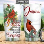 Personalized Cardinal Beside Us HLZ1411011 Stainless Steel Tumbler