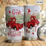 Christmas Truck Personalized HTC1611003 Stainless Steel Tumbler