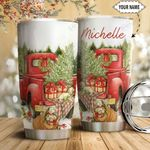 Red Truck Dog Personalized HTC1611013 Stainless Steel Tumbler