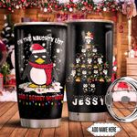 Penguin Christmas Regret Nothing Personalized KD2 HNM1611008 Stainless Steel Tumbler
