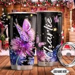 Colorful Butterfly Personalized KD2 HNM1611003 Stainless Steel Tumbler