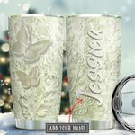 Ceramic Style Butterfly Personalized KD2 KHM1611002 Stainless Steel Tumbler