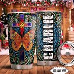 Butterfly Faith Personalized KD2 HNM1611001 Stainless Steel Tumbler