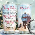 Old Couple Yorkshire Terrier Personalized KD2 BGX1611010 Stainless Steel Tumbler
