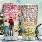 Old Couple With Beagle Retriever KD2 HRX1611008 Stainless Steel Tumbler