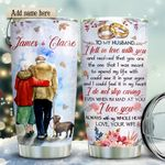 Old Couple Personalized KD2 HRX1611006 Stainless Steel Tumbler
