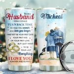 Old Couple Border Collie Personalized KD2 BGX1611002 Stainless Steel Tumbler