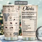 Elephant Facts Personalized TAS1611004 Stainless Steel Tumbler