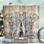 Elephant Glass Personalized TAS1611005 Stainless Steel Tumbler