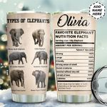 Types Of Elephants Personalized TAS1611009 Stainless Steel Tumbler