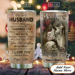 Skull Couple Husband Personalized KD2 HAL1611017 Stainless Steel Tumbler