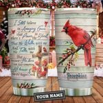 Cardinal Bird Faith Personalized KD2 ZZL1611008 Stainless Steel Tumbler