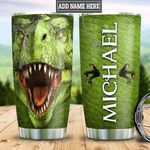 Personalized Green Dinosaur HLZ1611019 Stainless Steel Tumbler