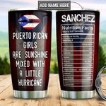 Personalized Puerto Rico Female Facts HHZ1611025 Stainless Steel Tumbler