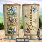 Personalized Butterfly Smile TTZ1611010 Stainless Steel Tumbler