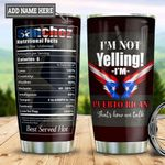 Personalized Puerto Rico Facts TTZ1611026 Stainless Steel Tumbler