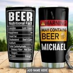 Personalized Beer Warning Facts HHZ1611004 Stainless Steel Tumbler