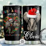Christmas Elephant Personalized TAS1711001 Stainless Steel Tumbler