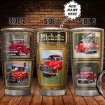 Red Truck Frames Personalized HTC1711008 Stainless Steel Tumbler