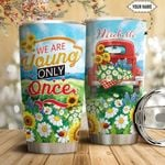 Red Truck Sunflower Personalized HTQ1711012 Stainless Steel Tumbler