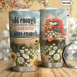 Red Truck Sunflower Personalized HTQ1711011 Stainless Steel Tumbler