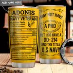 Navy Veteran Facts Personalized MDA1711005 Stainless Steel Tumbler