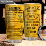 Air Force Veteran Facts Personalized MDA1711001 Stainless Steel Tumbler