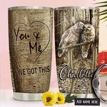 Owl Couple Personalized NNR1711016 Stainless Steel Tumbler