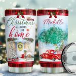 Christmas Red Truck Personalized KD2 BGX1711004 Stainless Steel Tumbler