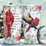 Cardinal Wings Personalized KD2 BGX1711003 Stainless Steel Tumbler