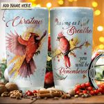 Cardinal Remembered Personalized KD2 HRX1711002 Stainless Steel Tumbler