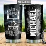 Personalized Trucker No Fear TTZ1711022 Stainless Steel Tumbler