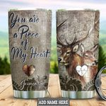 Personalized Deer Couple Puzzles HLZ1711010 Stainless Steel Tumbler