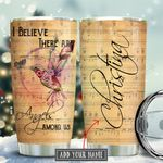 Hummingbird Angels Among Us Personalized KD2 KHM1711011 Stainless Steel Tumbler