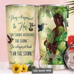 Black Women Personalized PYR1611007 Stainless Steel Tumbler