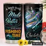Fishing Personalized NNR1611010 Stainless Steel Tumbler